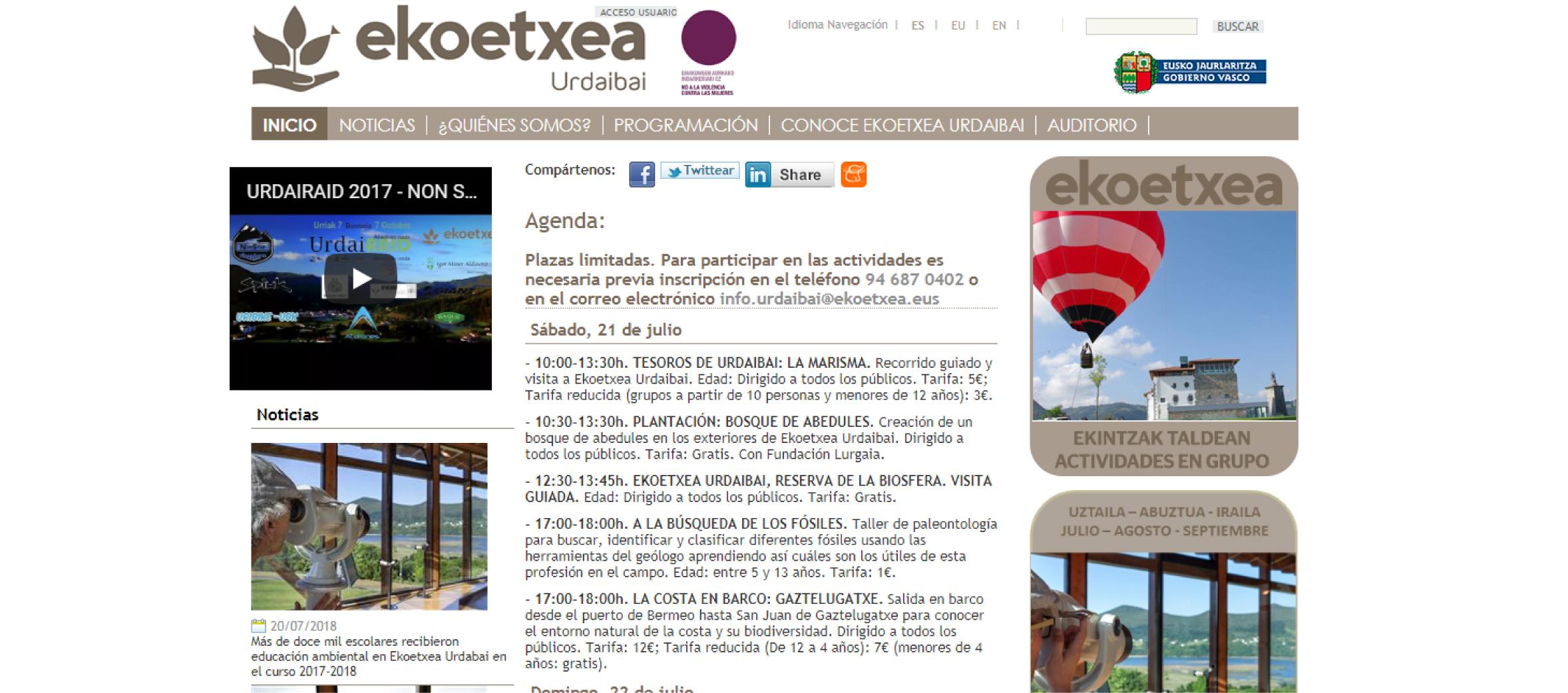 Turismo en Vizcaya - Urdaibai, Reserva de la Biosfera
