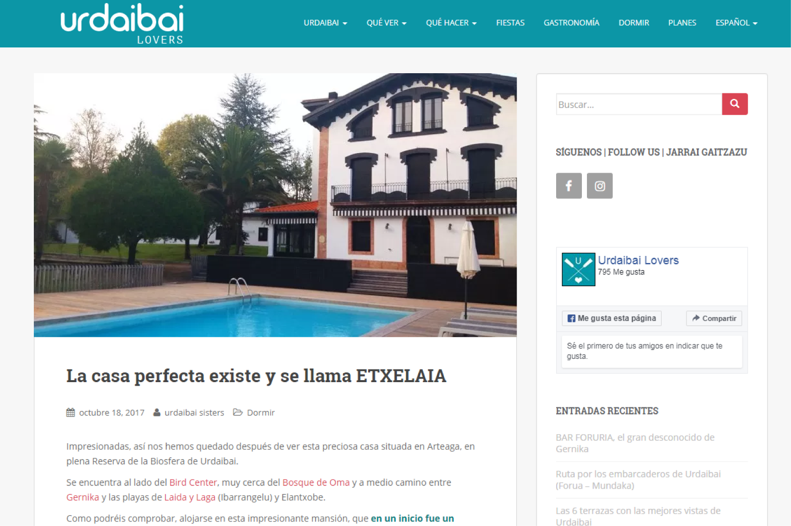 Etxelaia - One of the best accommodations in the Urdaibai Reserve